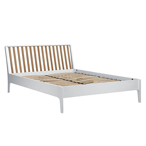 Buy House by John Lewis Maine Bedstead, White/Ash, Kingsize Online at johnlewis.com
