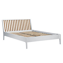 Buy House by John Lewis Maine Bedstead, White/Ash, Double Online at johnlewis.com