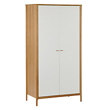 Buy House by John Lewis Maine Double Wardrobe, White/Ash Online at johnlewis.com