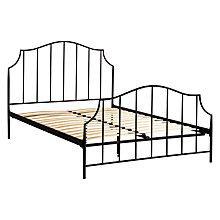 Buy John Lewis Oregan Metal Bedstead, Black, Double Online at johnlewis.com