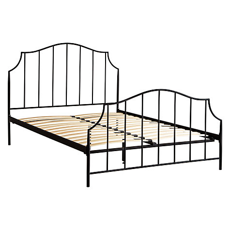 Buy John Lewis Oregan Metal Bedstead, Black, Kingsize Online at johnlewis.com