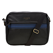 Buy Ted Baker Coubert Webbing Document Bag, Navy Online at johnlewis.com
