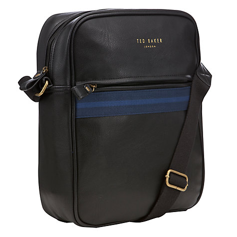 Buy Ted Baker Miguel Webbing Flight Bag, Navy Online at johnlewis.com