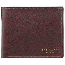 Buy Ted Baker Cross Grain Bifold Coin Wallet, Burgundy Online at johnlewis.com