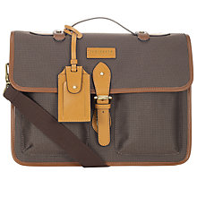 Buy Ted Baker Dollah Nylon Light Satchel, Brown Online at johnlewis.com