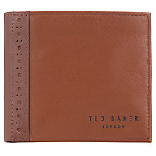 Buy Ted Baker Drummon Leather Bifold Wallet, Tan Online at johnlewis.com