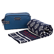 Buy Ted Baker Washbag & Towel Set, Navy Online at johnlewis.com