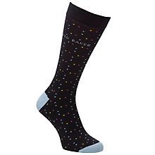 Buy Ted Baker Small Spot Socks, One Size, Navy Online at johnlewis.com