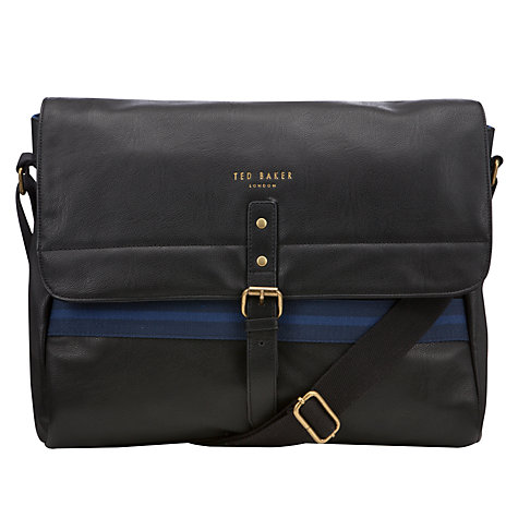 Buy Ted Baker Aldaya Messenger Bag, Navy Online at johnlewis.com