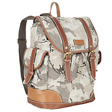 Buy Ted Baker Drjones Canvas Backpack, Camouflage Online at johnlewis.com