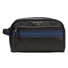 Buy Ted Baker Webbing Washbag, Navy Online at johnlewis.com