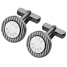 Buy Ted Baker Round Striped Cufflinks Online at johnlewis.com