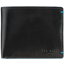 Buy Ted Baker Bifold Coin Wallet, Black Online at johnlewis.com
