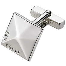 Buy Ted Baker Faceted Brand Square Cufflinks Online at johnlewis.com