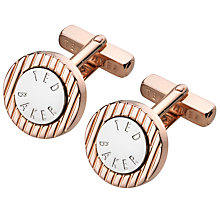 Buy Ted Baker Cross Texture Cufflinks, Rose Gold Online at johnlewis.com