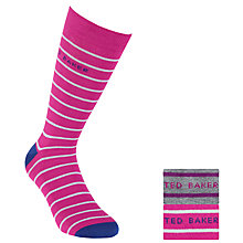 Buy Ted Baker Multi Stripe Socks, Pack of 2, Grey, One Size Online at johnlewis.com