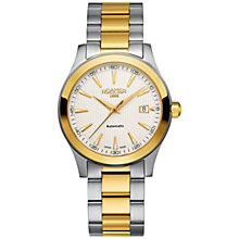 Buy Roamer ET17.00ROX Men's Two-Tone Automatic Bracelet Strap Watch, Silver / Gold Online at johnlewis.com