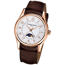 Buy Frederique Constant FC-330RM6B4 Men's Runabout Automatic Leather Strap Watch, Rose Gold Online at johnlewis.com