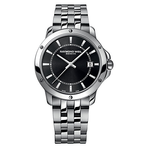 Buy Raymond Weil 5591-ST-20001 Men's Tango Stainless Steel Bracelet Strap Watch, Silver/Black Online at johnlewis.com