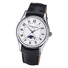 Buy Frédérique Constant FC-330RM6B6 Men's Runabout Moonphase Leather Strap Watch Online at johnlewis.com