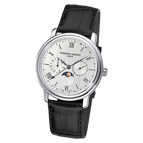 Buy Frédérique Constant FC-270SW4P6 Men's Classics Business Timer Black Leather Strap Watch Online at johnlewis.com