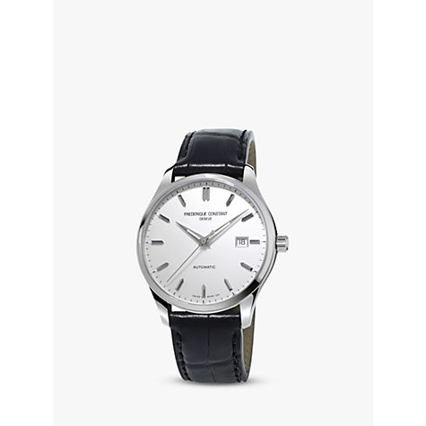 Buy Frédérique Constant FC-303S5B6 Men's Classics Index Automatic Leather Strap Watch Online at johnlewis.com