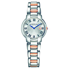 Buy Raymond Weil 5229-S5-001659 Women's Jasmine Bracelet Strap Watch, Silver / Rose Gold Online at johnlewis.com