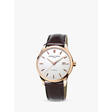 Buy Frédérique Constant FC-303V5B4 Men's Classics Index Automatic Leather Strap Watch Online at johnlewis.com