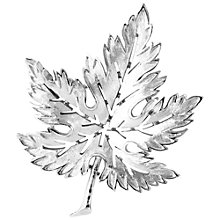 Buy Susan Caplan Vintage 1960s Trifari Textured Leaf Brooch, Silver Online at johnlewis.com