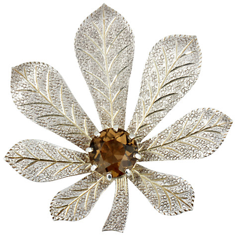 Buy Sharon Mills 1950s John Hart Silver Leaves Brooch Online at johnlewis.com