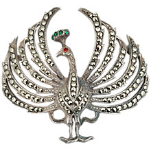Buy Sharon Mills 1950s Silver Marcasite Peacock Brooch Online at johnlewis.com