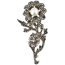 Buy Sharon Mills 1950s Marcasite Wild Flower And Pearl Brooch Online at johnlewis.com