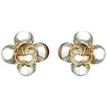Buy Sharon Mills 1950s Silver Flower Clip On Earrings Online at johnlewis.com