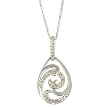 Buy Sharon Mills 9ct White Gold Pear Swirl Diamond Pendant Online at johnlewis.com