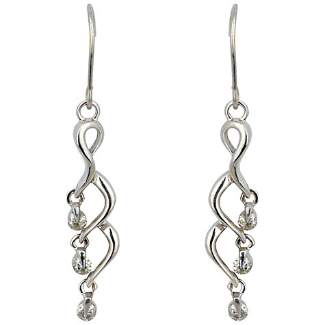 Buy Sharon Mills 18ct White Gold And Diamond Drop Earrings Online at johnlewis.com