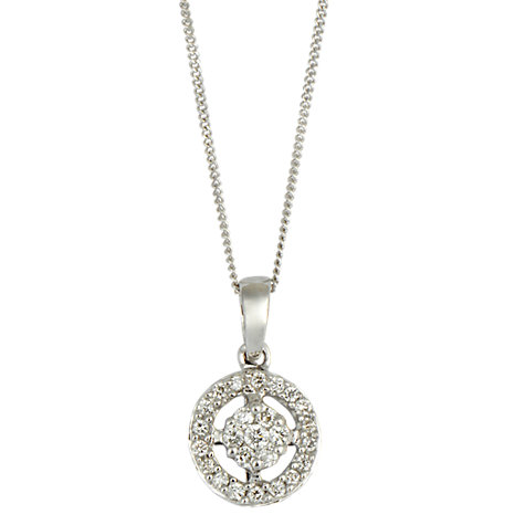 Buy Sharon Mills 18ct White Gold And Diamond Pendant Online at johnlewis.com