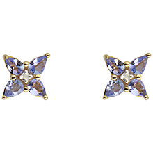 Buy Sharon Mills 9ct Yellow Gold And Tanzanite Stud Earrings Online at johnlewis.com