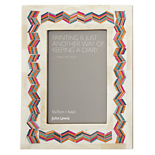 "Buy John Lewis Zig Zag Photo Frame, 6 x 4"" (15 x 10cm) Online at johnlewis.com"