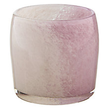 Buy John Lewis Glass Tealight Holder, Purple Online at johnlewis.com