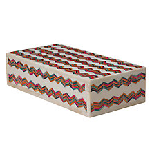 Buy John Lewis Zig Zag Box, Multi, 25 x 12cm Online at johnlewis.com