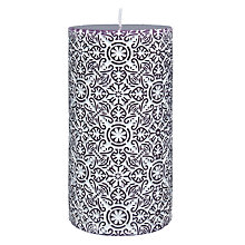 Buy John Lewis Embossed Candle, H10cm, Imperial Online at johnlewis.com