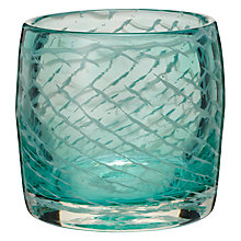 Buy John Lewis Glass Tealight Holder, Green Online at johnlewis.com