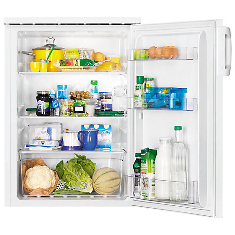 Buy Zanussi ZRG16601WA Larder Fridge, A+ Energy Rating, 60cm Wide, White Online at johnlewis.com
