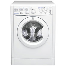 Buy Indesit IWC61451 Washing Machine, 6kg Load, A+ Energy Rating, 1400rm Spin, White Online at johnlewis.com