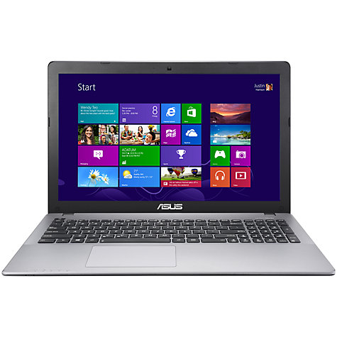 "Buy Asus X550CA Laptop, Intel Core i5, 4GB RAM, 750GB, 15.6"", Grey Online at johnlewis.com"