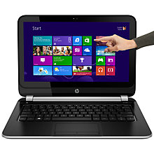 "Buy HP Pavilion Touchsmart 11-e102sa Laptop, AMD A6, 4GB RAM, 500GB, 11.6"" Touch Screen, Black & Silver Online at johnlewis.com"