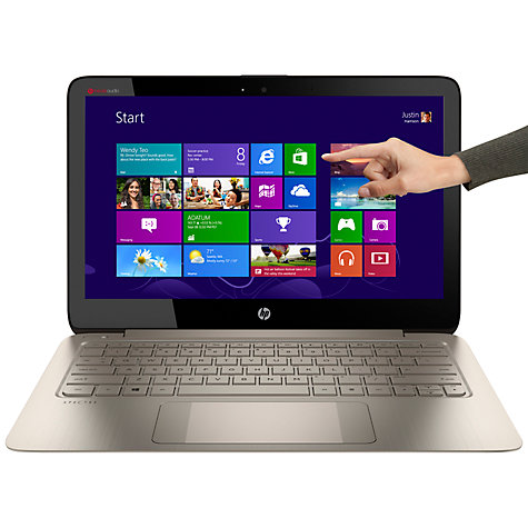 "Buy HP Spectre 13-3000ea Ultrabook, Intel Core i5, 8GB RAM, 256GB SSD, 13.3"" Touch Screen, Brown Online at johnlewis.com"