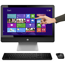 "Buy HP Envy Recline 23-k010ea All-in-One Desktop PC, Intel Core i3, 4GB RAM, 1TB, 23"" Touch Screen, Black Online at johnlewis.com"