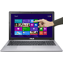 "Buy Asus X550CA Laptop, Intel Core i5, 8GB RAM, 1TB, 15.6"" Touch Screen, Grey Online at johnlewis.com"