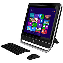 "Buy HP Pavilion TouchSmart 23-F340EA All-in-One Desktop PC, Intel Core i3, 8GB RAM, 2TB, 23"" Touch Screen, Black + Microsoft Office 365 Personal Online at johnlewis.com"